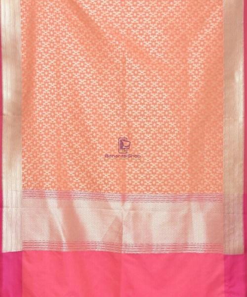 Woven Banarasi Art Silk Dupatta in Peach Pink 3