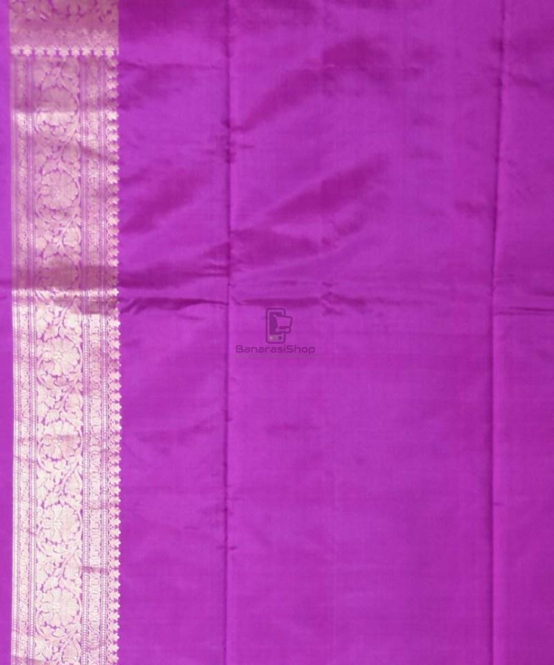 Banarasi Pure Katan Silk Handloom Purple Saree 4