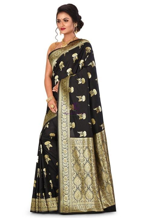 Banarasi Saree in Black 7