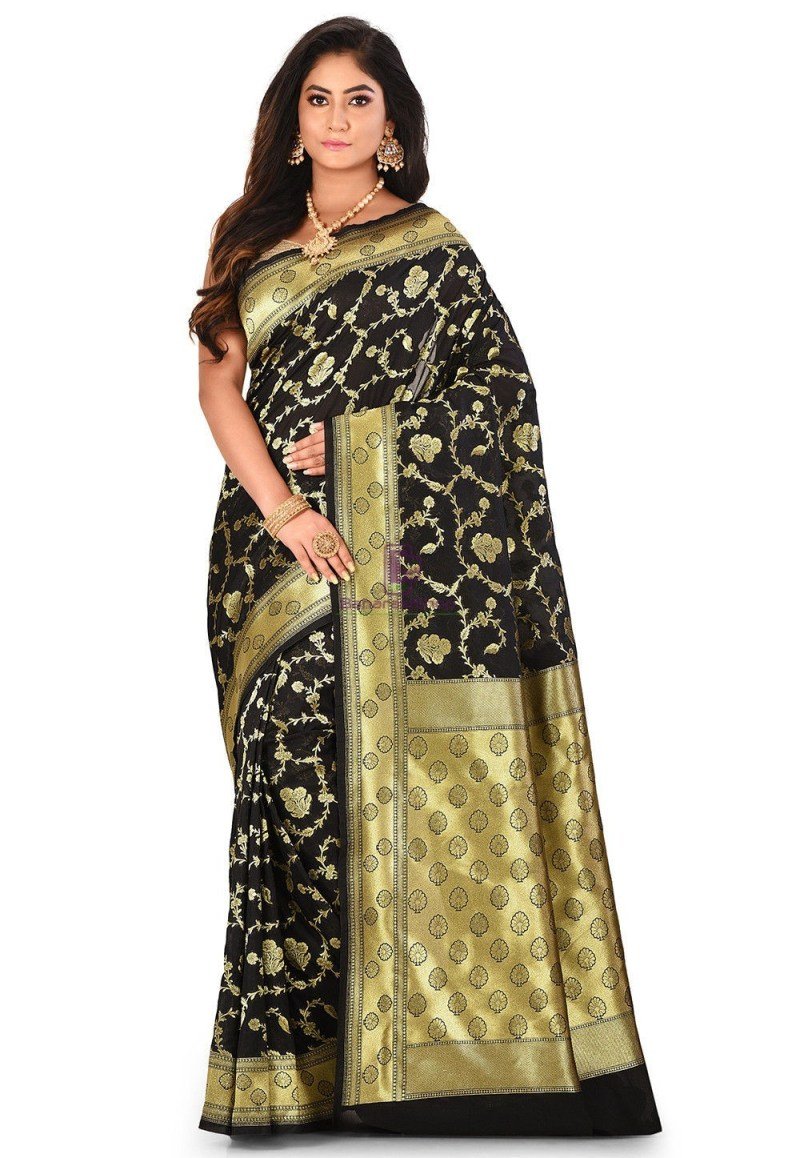 Banarasi Saree in Black 1