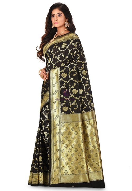 Banarasi Saree in Black 7