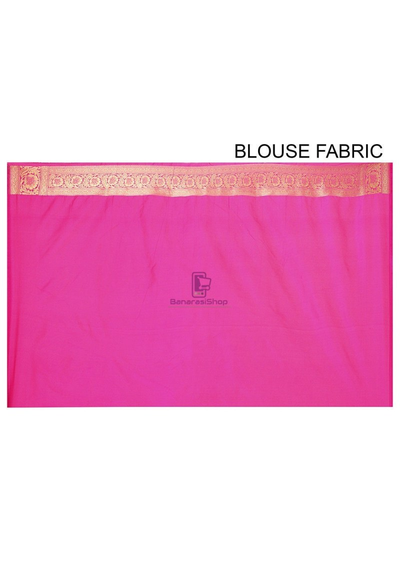 Banarasi Saree in Fuchsia 3