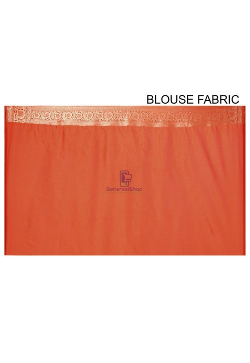 Banarasi Saree in Orange 6