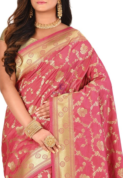 Banarasi Saree in Pink 5