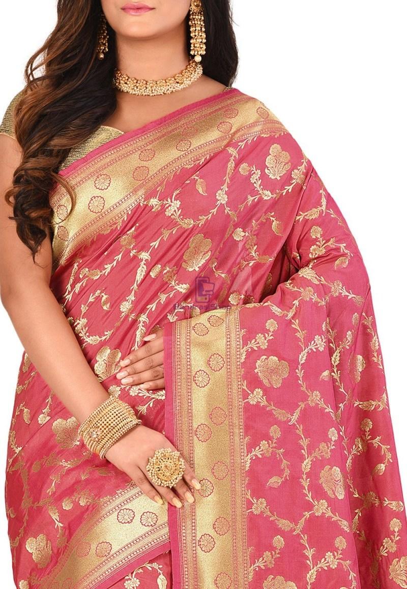 Banarasi Saree in Pink 2