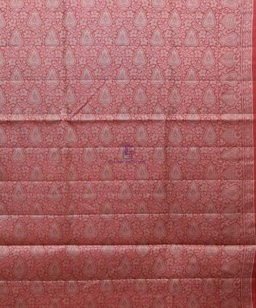 Woven Pure Tussar Silk Banarasi Saree in Dark Green 7