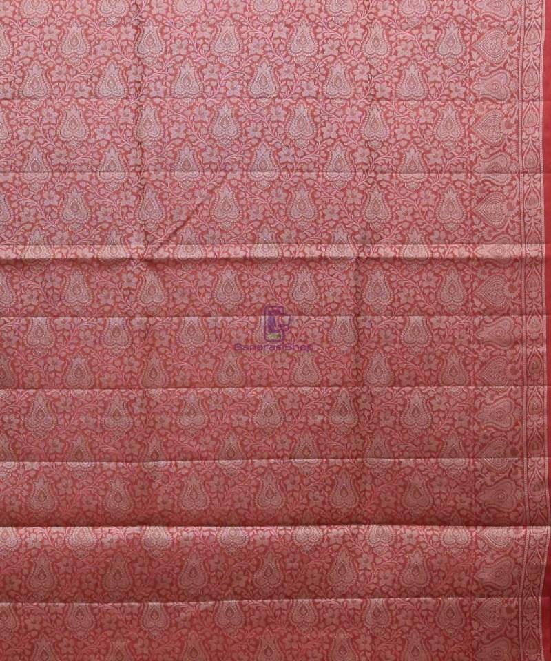 Woven Pure Tussar Silk Banarasi Saree in Dark Green 4