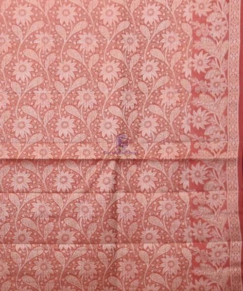 Woven Pure Tussar Silk Banarasi Saree in Butter Yellow 7