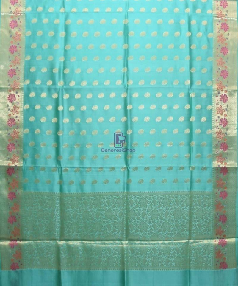 Pure Woven Banarasi Dupion Silk Saree with Unstitched Blouse Fabric 1