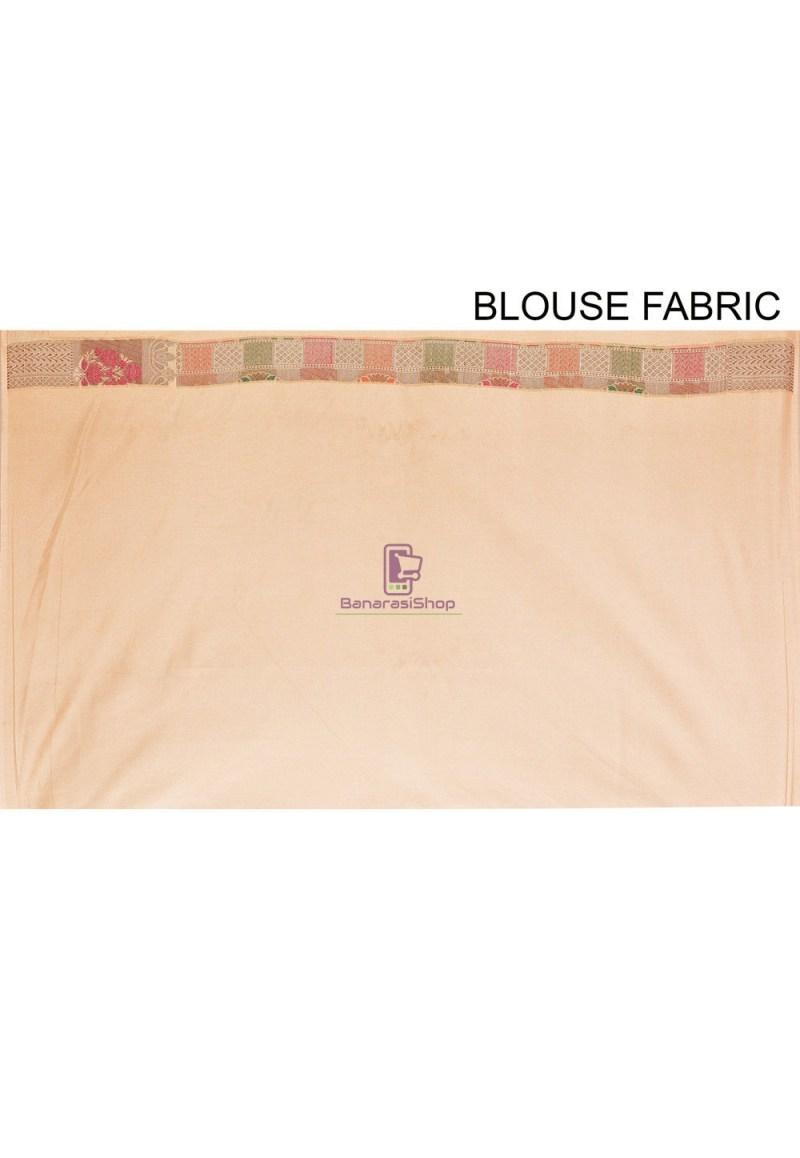 Woven Cotton Silk Saree in Beige 4