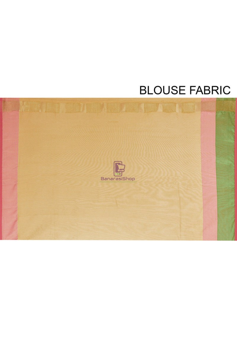 Woven Cotton Silk Saree in Mustard 4