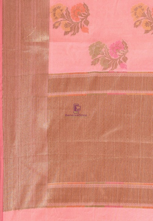 Woven Cotton Silk Saree in Pink 6