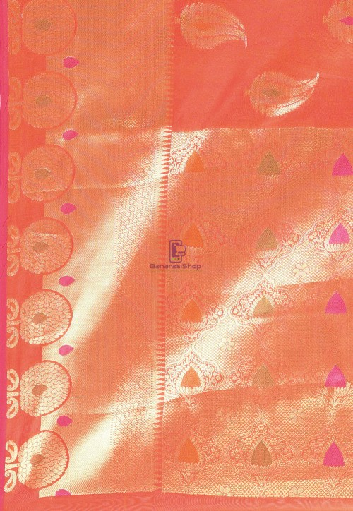 Woven Cotton Silk Saree in Red 6