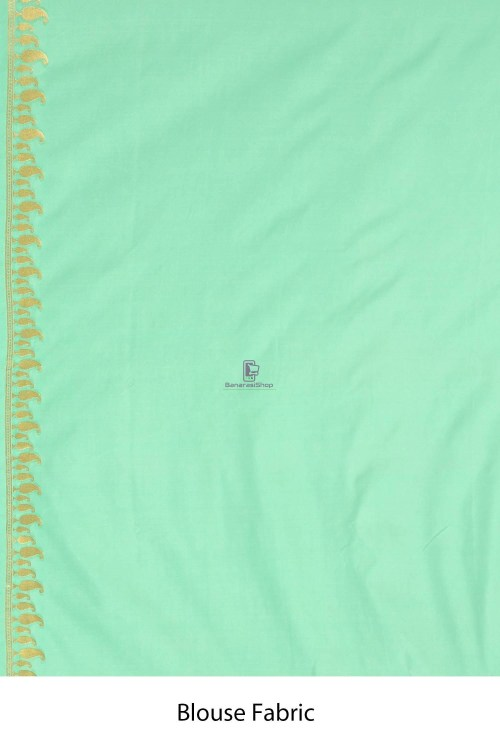 Banarasi Tissue Silk Minedar Saree with Running Blouse Fabric 7