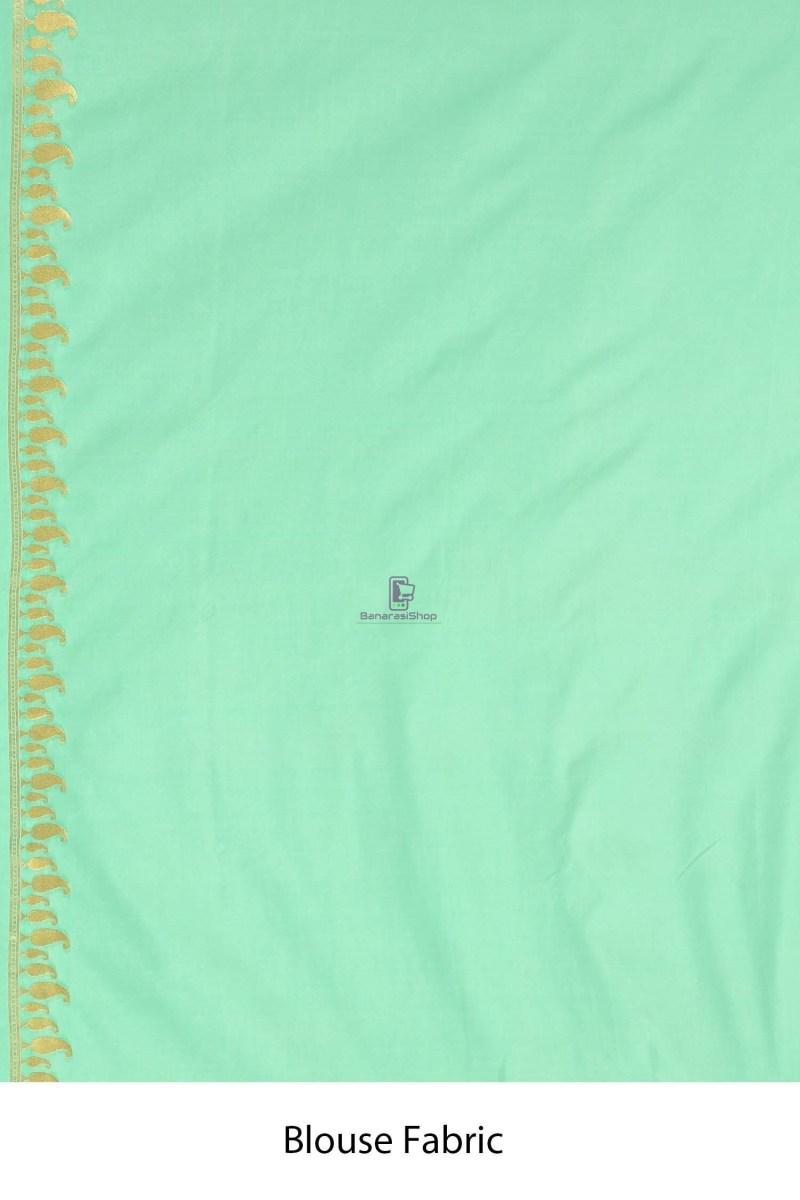 Banarasi Tissue Silk Minedar Saree with Running Blouse Fabric 4