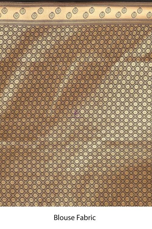 Banarasi Silk Saree with Running Blouse Fabric 7