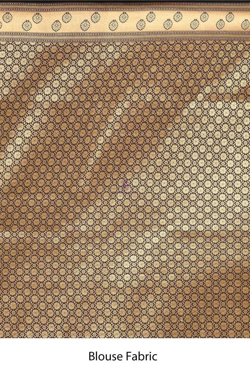 Banarasi Silk Saree with Running Blouse Fabric 4