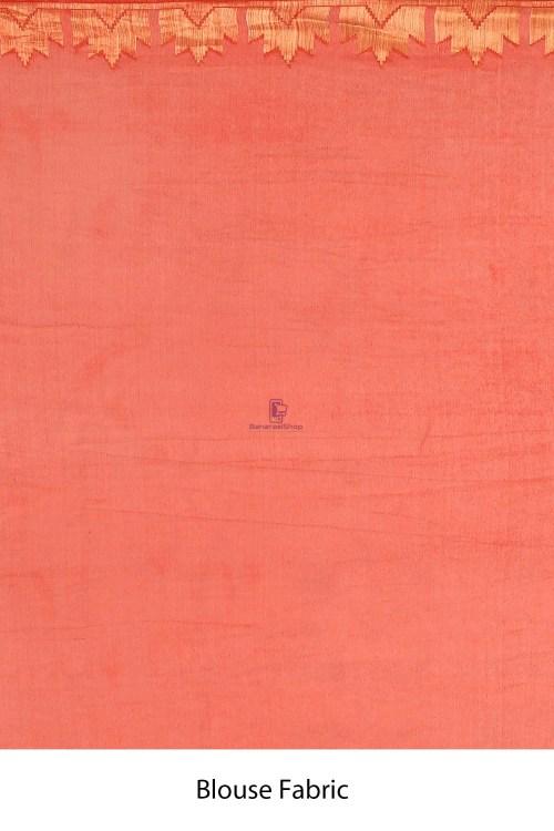 Banarasi Chiffon Silk Saree with Running Blouse Fabric 7