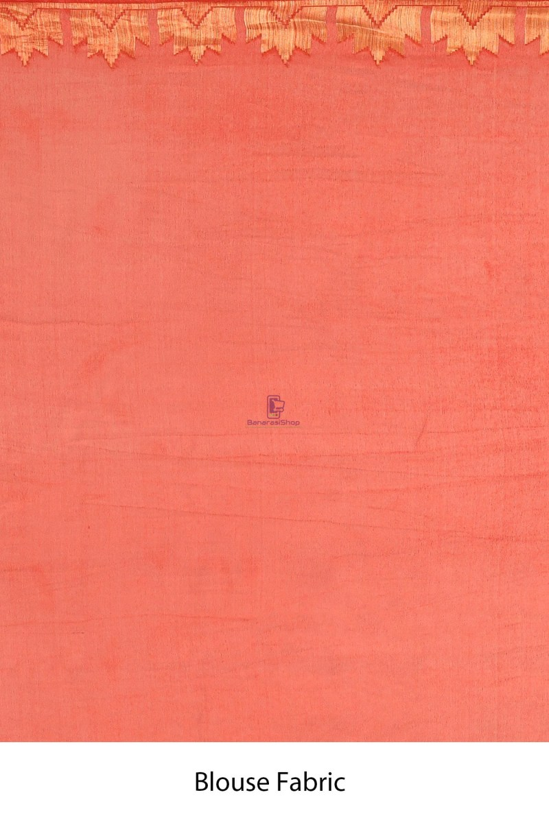 Banarasi Chiffon Silk Saree with Running Blouse Fabric 4
