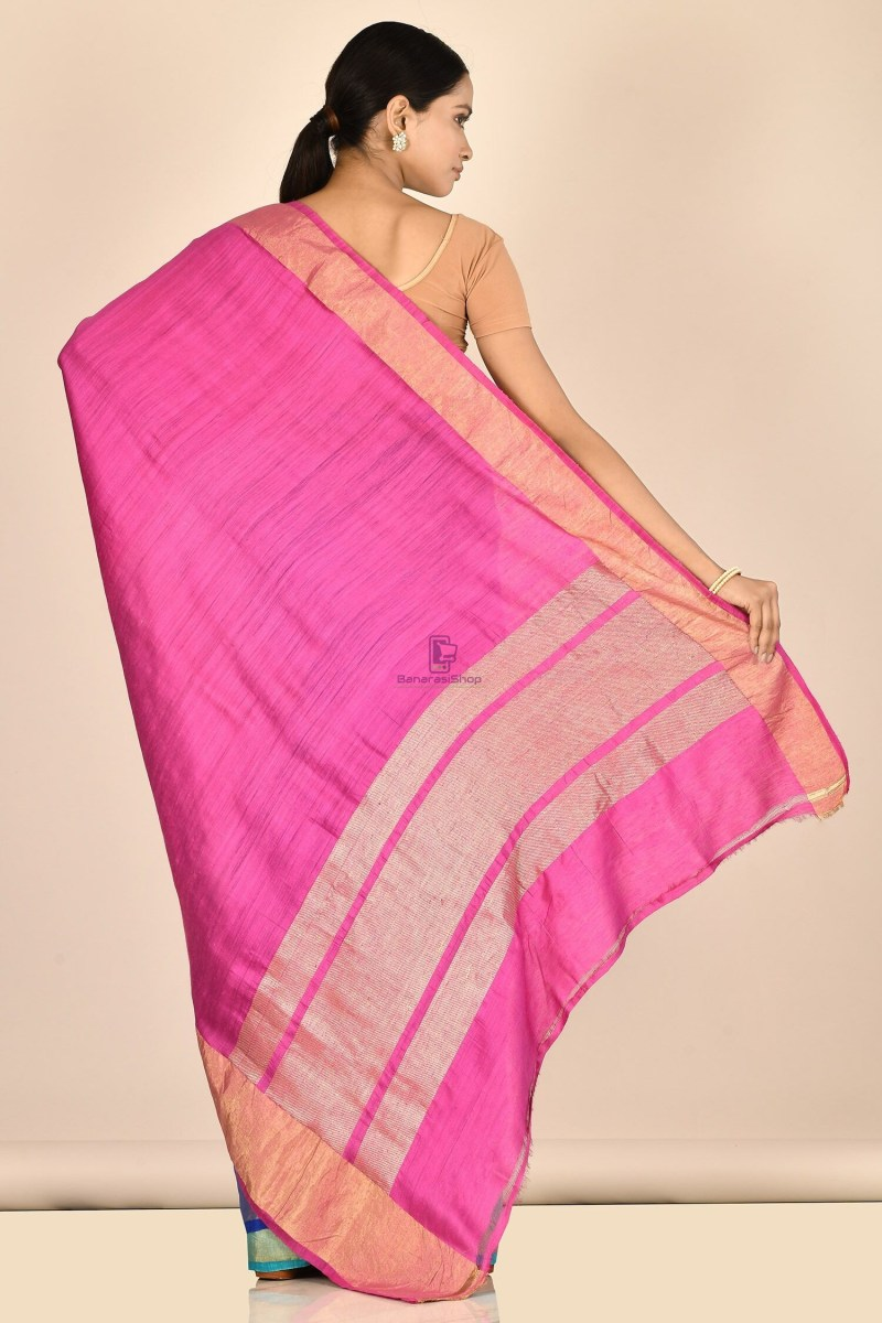 Handloom Dupion Silk Saree with Running Blouse Fabric 3