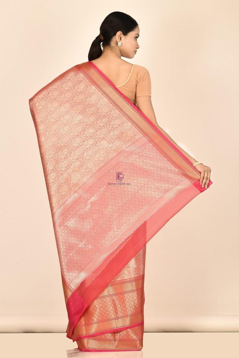 Banarasi Tissue Silk Saree with Running Blouse Fabric 3