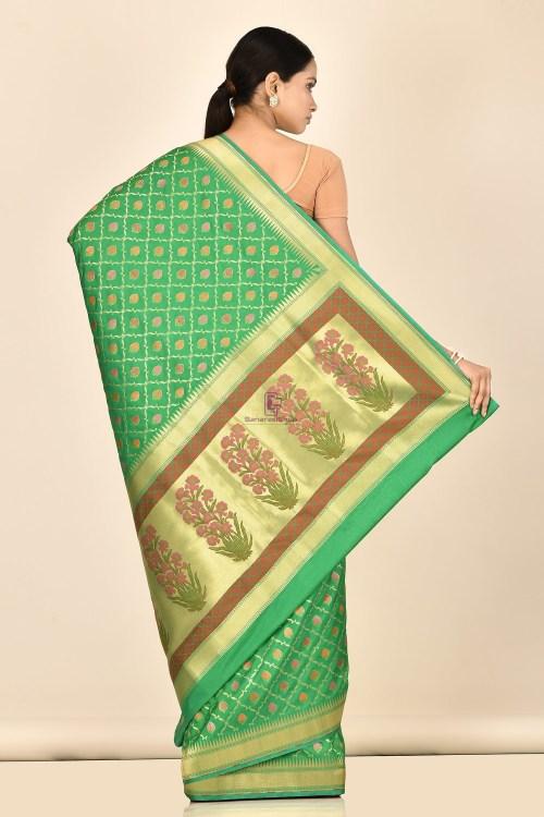 Banarasi Silk Minedar Saree with Running Blouse Fabric 6