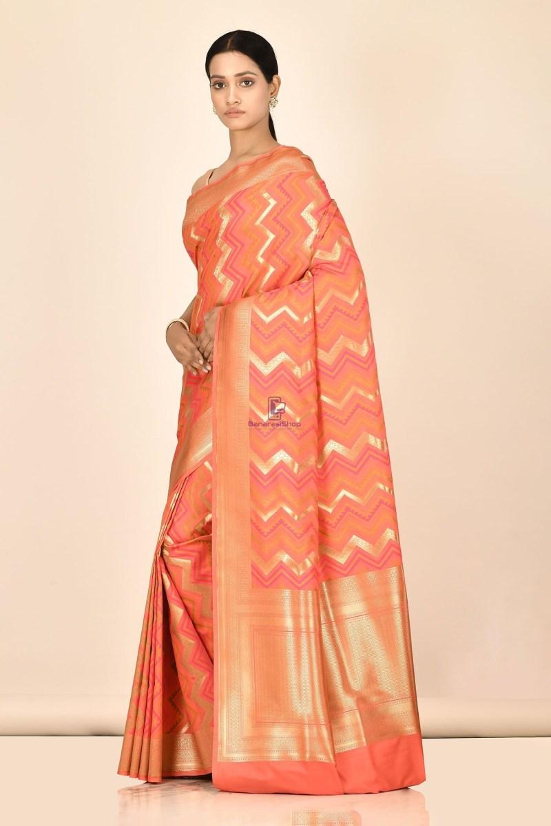 Banarasi Silk Saree with Running Blouse Fabric 2