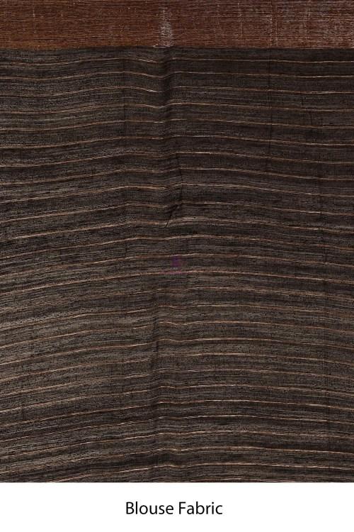 Handloom Dupion Silk Saree with Running Blouse Fabric 7