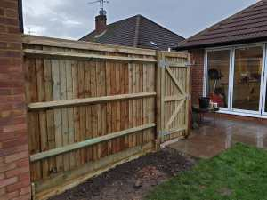 New fence with gate Banbury