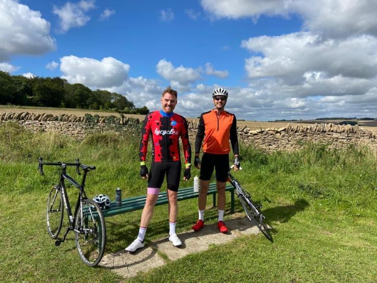 Cotswold Cycle Challenge organizer Chris Belcher right and Nick Leader