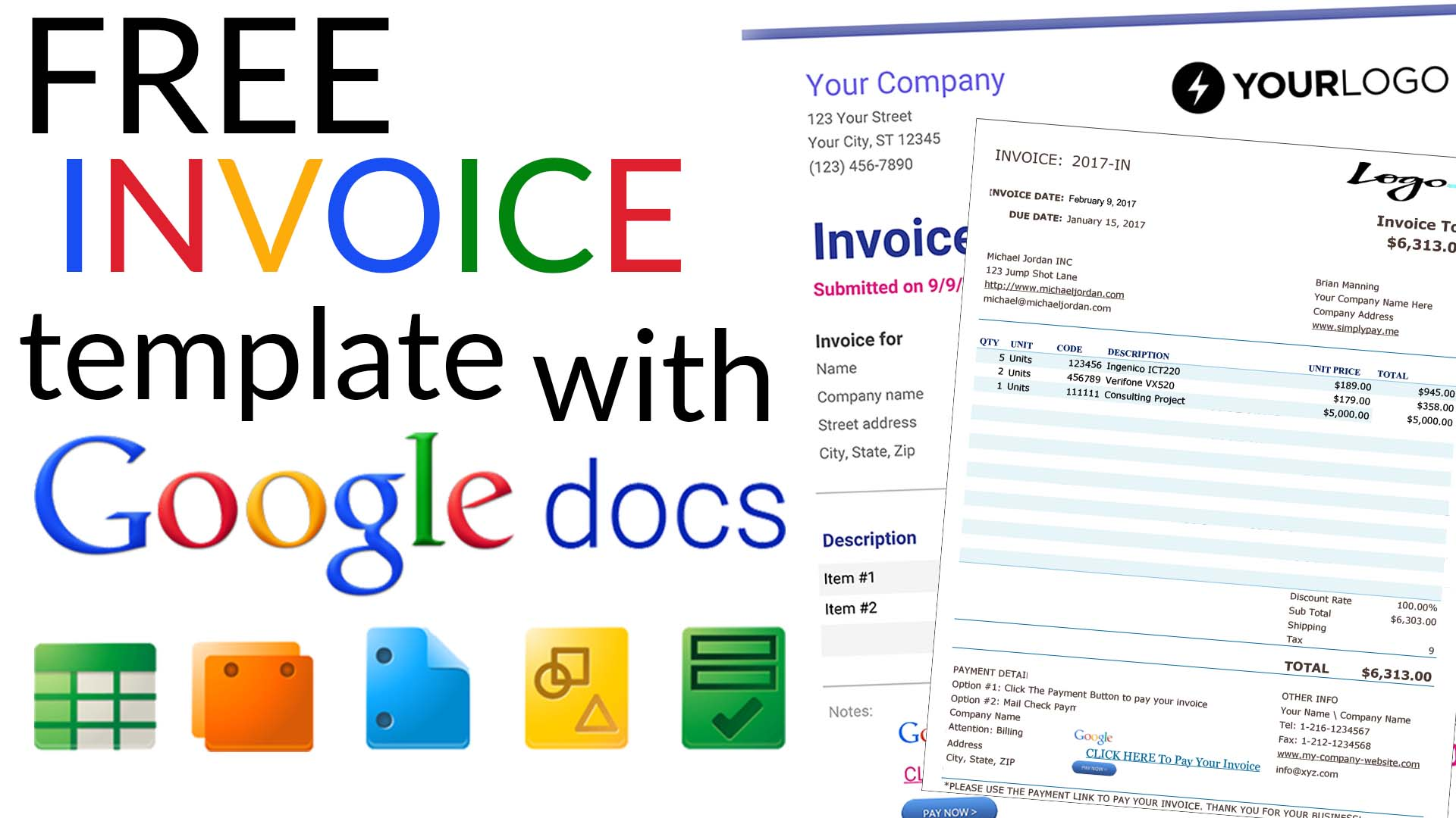 Free Invoice Templates With Docs