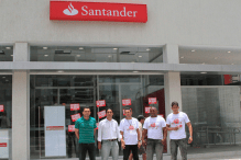 Santander Doca em greve