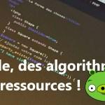 bannière article du codes, des algorithmes et des ressources