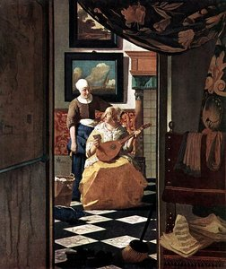 La lettre d'amour, peinture de Vermeer
