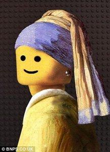 La jeune fille Lego à la perle