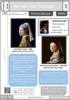 Aperçu de la fiche élève pour la séance 2 sur Vermeer