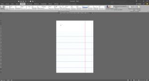 Insertion d'une page lignée de cahier sous Word