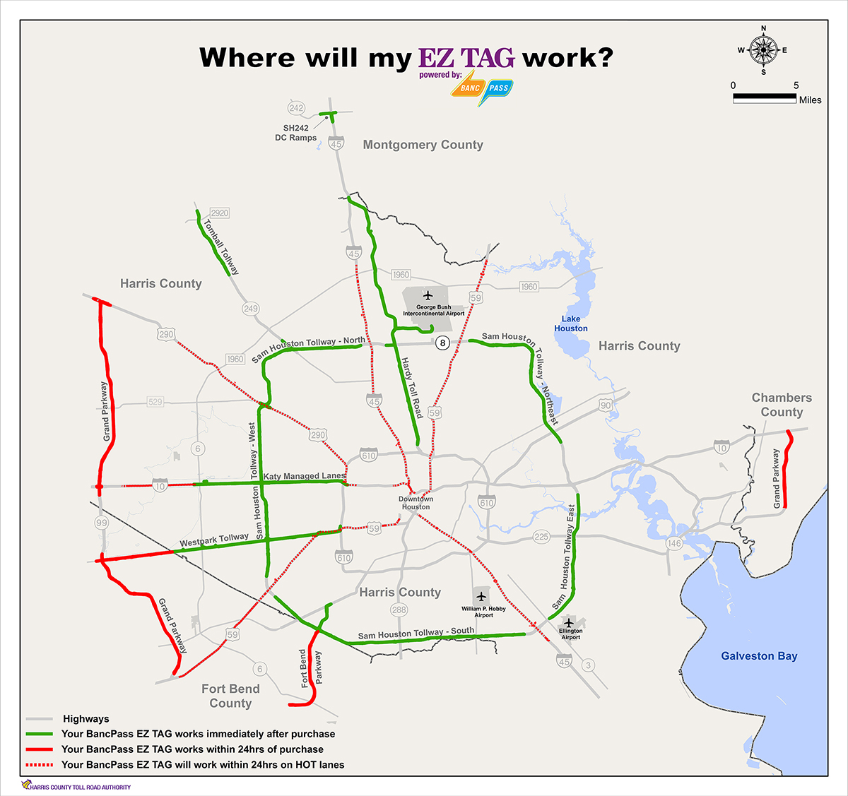Houston Beltway 8 Toll Map