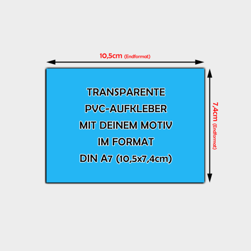 transparente Aufkleber Din A7 Querformat