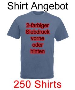 250 Shirts 2-farbig bedruckt mit deinem Wunschmotiv