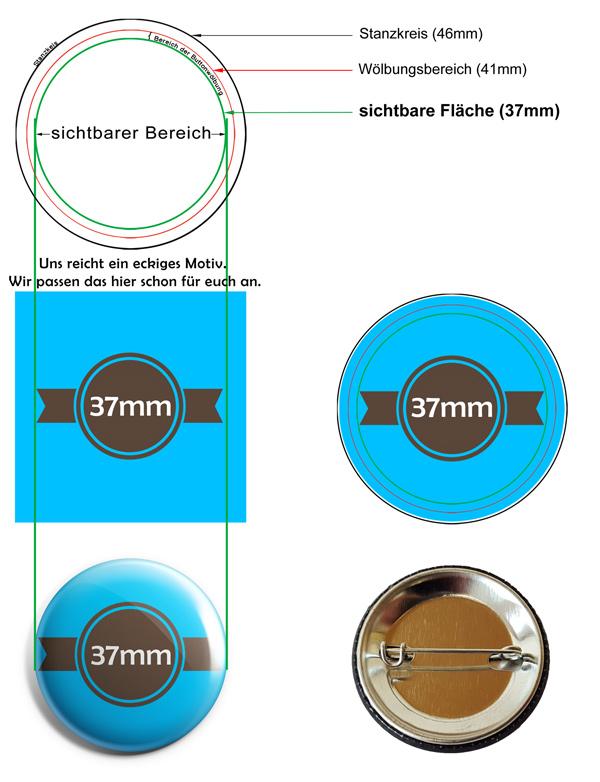 37mm Buttons Vorlage