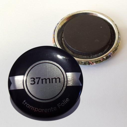 37mm Silber Buttons mit Magnet bestellen