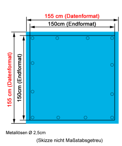PVC Bandbanner 150x150cm drucken lassen