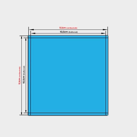 quadratische Papier-Aufkleber 10,5x10,5cm