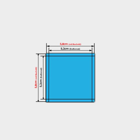 quadratische Papier-Aufkleber 5,2x5,2cm bestellen