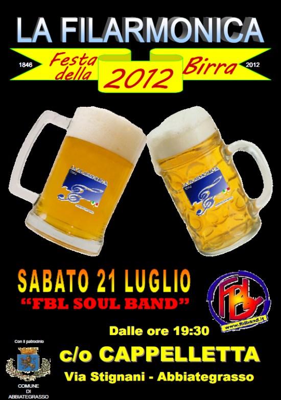 Locandina Festa della Birra 2012