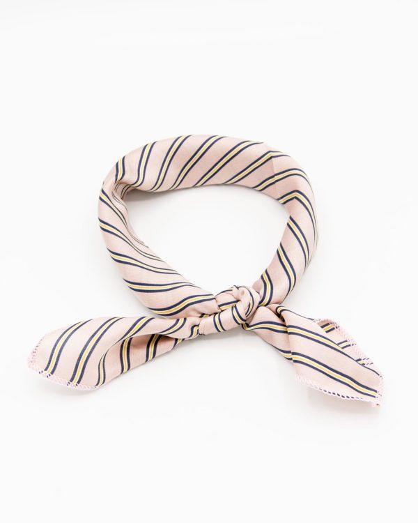 bandana foulard rose à rayures