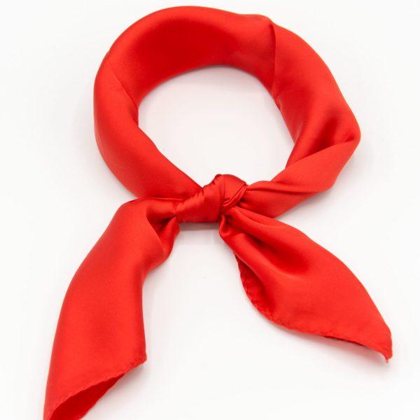 bandana foulard soie rouge