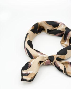bandana beige à taches noires pour femme