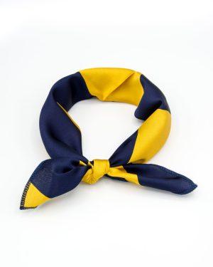 bandana bleu marine et jaune